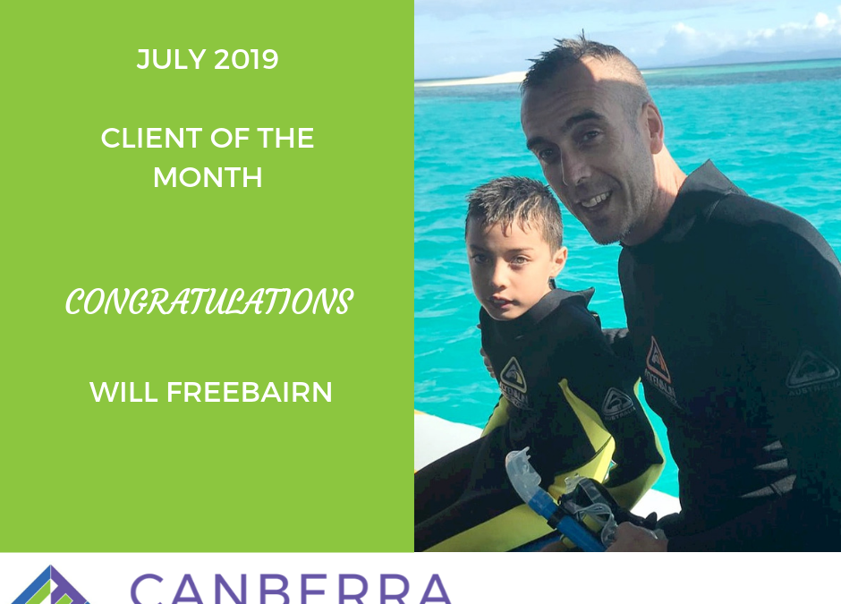JULY CLIENT OF THE MONTH
